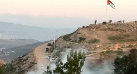 30 اصابة عقب اقتحام الاحتلال جبل العرمة جنوب نابلس