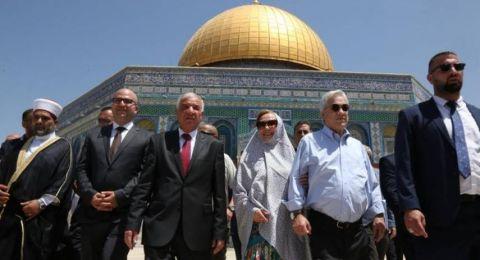 الرئيس التشيلي يزور المسجد الأقصى و