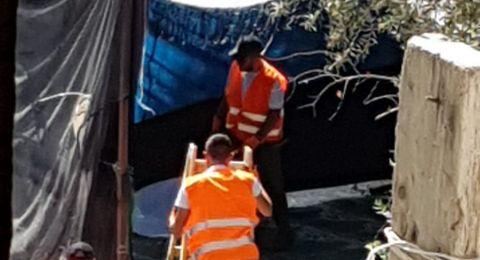 قوات الاحتلال تهدم خيمة الاعتصام ببلدة سلوان