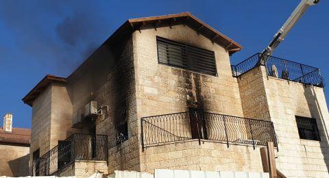 القدس: انقاذ عائلة أثر حريق في شقة سكنية