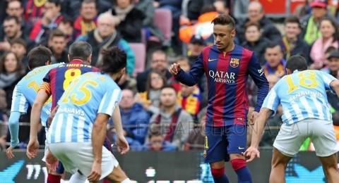 برشلونة ينجو من التعادل أمام ملقا في الليجا