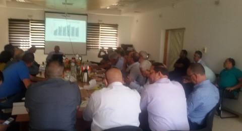 عرض آخر مستجدات الخطة الخمسية للسلطات البدوية باجتماع في مجلس الشبلي أم الغنم