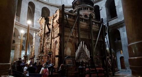 ترميم كنيسة القيامة يكشف عن