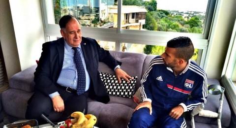 ياهف يزور اللاعب محمود عباس