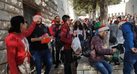 اجواء ميلادية مميزة بالكنيسة الرعوية في قلب الناصرة