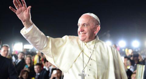 البابا فرنسيس: آمل استئناف الحوار بين الفلسطينيين والإسرائيليين
