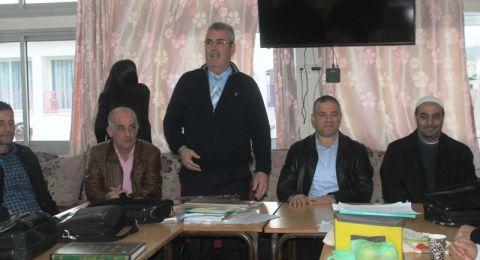 سخنين: مدرسة الحلان الاعدادية تستقبل وفد من ادارة بلدية سخنين