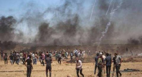 استشهاد شاب واصابة 6 مواطنين خلال مسيرات العودة