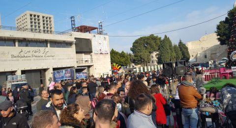 الميلاد في بيت لحم .. الآلاف من سكان الجليل يشاركون بالاحتفالات