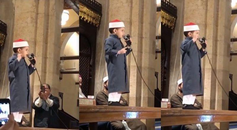 أصغر داعية إسلامي يلقي خطبة أمام مجموعة من المشايخ