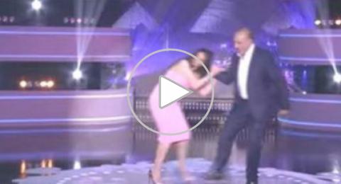جمال سليمان يضرب حورية فرغلي على الهواء