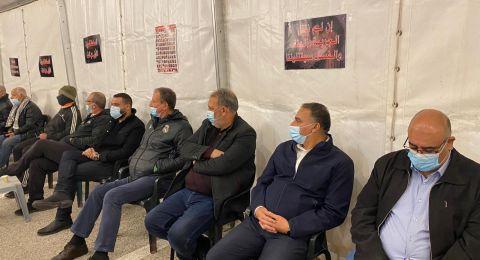 العشرات في خيمة التضامن ونبذ العنف في عارة