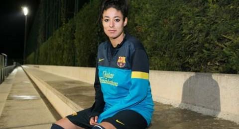 ليلى الوهابي المغربية  تتألق مع فريق برشلونة للسيدات