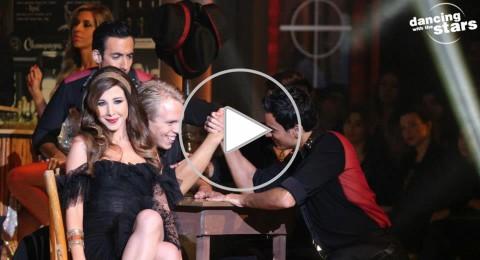 نانسي عجرم ترقص في برنامج «رقص النجوم».. ونايا تحمل الكأس