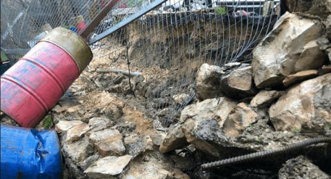 القدس: الأمطار تكشف الحفريات الاسرائيلية في سلوان