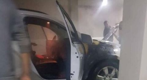 احراق سيارة مسؤول في سخنين