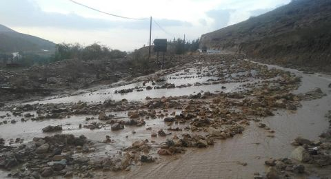 السيول تغرق شوارع العاصمة الأردنية