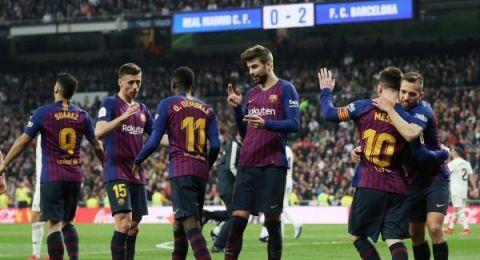 برشلونة يطحن ريال مدريد في البيرنابيو ويتأهل لنهائي كأس الملك