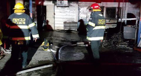 حريق في بلدية رهط دون وقوع خسائر بشرية