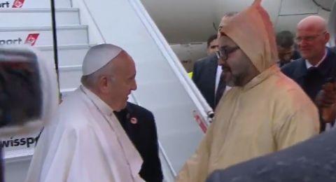 وصول بابا الفاتيكان إلى المغرب