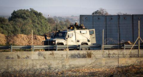 الجيش الاسرائيلي يعزز قواته على حدود القطاع ويتهم حماس بصاروخ