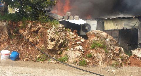 اندلاع حريق داخل محل تجاري في البقيعة