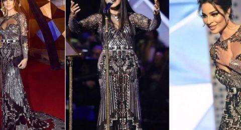 كيف ردّت أحلام على موضوع إرتدائها نفس فستان نادين نسيب نجيم!