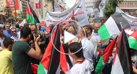 قبل ساعات من تصويت الفيفا: وقفة تضامنية داعمة في رام الله