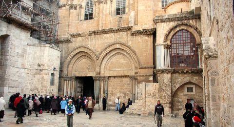 إعادة فتح أبواب كنيسة القيامة مع الالتزام بإجراءات السلامة