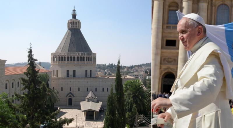 البابا فرنسيس يصلي مع الناصرة!