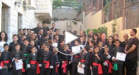 نادي الكونغ فو في سخنين يوزع الأحزمة والشهادات على طلابه