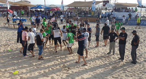 بالهدف الذهبي فلفلة كفر قاسم بطل اسرائيل للمرة الرابعة بكرة القدم للشواطئ