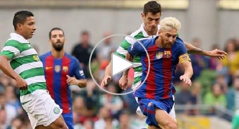 برشلونة يستهل تحضيراته بفوز ودي على سلتيك في كأس الأبطال