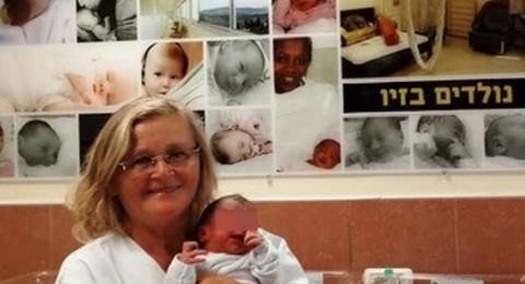 امرأة سورية تضع مولودًا في مستشفى صفد