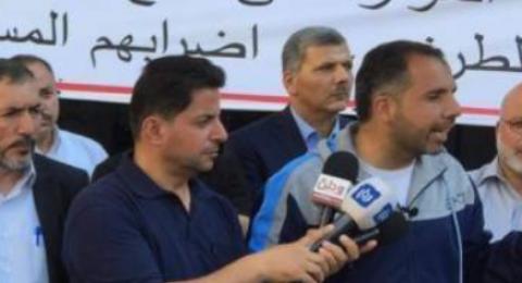 رام الله: المحررون المقطوعة رواتبهم يعلنون الإضراب عن الماء والطعام