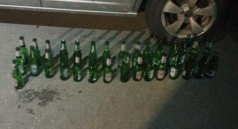 سخنين: اعتقال شاب قاد مركبته مع 30 قنينة بيرة!