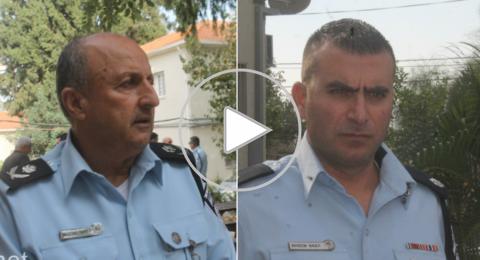 جمال حكروش ووسيم بدر يعرضان إنجازات الشرطة وخطتها المستقبلية