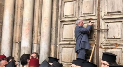 رؤساء الكنائس: غدًا ستفتح أبواب كنيسة القيامة من جديد عند الرابعة فجرًا