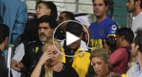 فيديو: الإعتداء على زوجة مارادونا في دبي