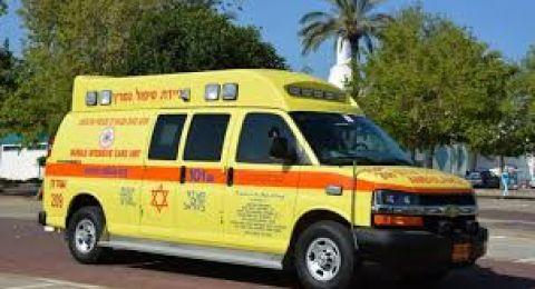 حادث طرق على شارع 6 قرب مدينة رهط يسفر عن اصابة شابتين