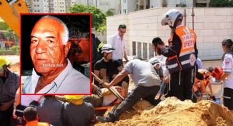 حادث عمل في الرملة ومصرع حسين سعيد مسعود من عرعرة