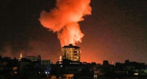 الطيران الاسرائيلي يستهدف عدة مواقع في قطاع غزة