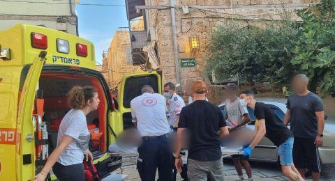اصابة متوسطة لعامل(45عاما) من خرطوم خلاط باطون في حتصور