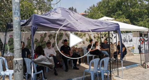 بلدية القدس تتراجع عن هدم خيمة الاعتصام في الشيخ جراح .. اسكافي يتحدث لـ