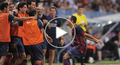 فوز بشق الانفس لبرشلونة على ملقا(1-0)