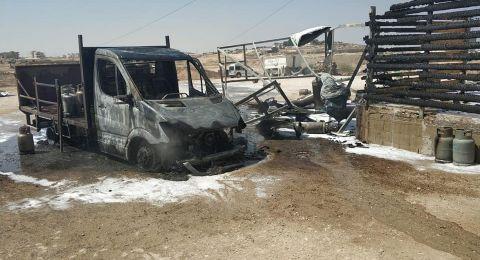 رهط: اغلاق مخزن لبيع اسطوانات الغاز .. في أعقاب حريق وانفجار