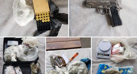 سخنين: ضبط شاب وبحوزته مخدرات وأسلحة بقيمة 170 ألف شيكل