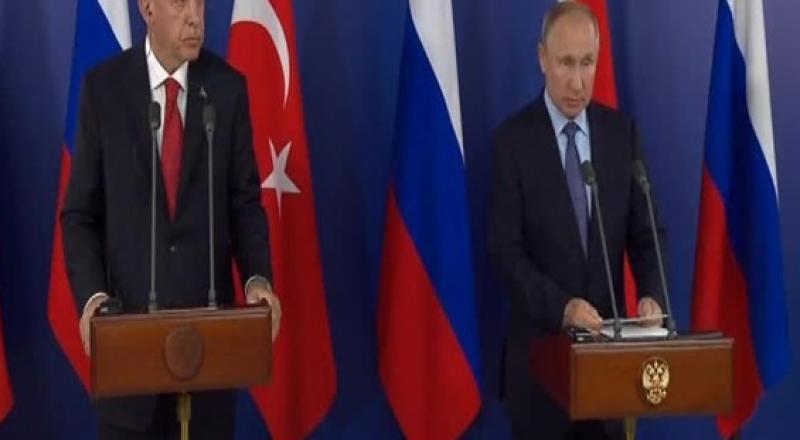 بوتين يؤكد الاتفاق مع أردوغان على ضرورة بقاء سوريا موحدة