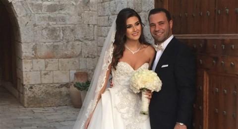 ملكة جمال لبنان سالي جريج الاجمل في زفافها بفستان من طوني ورد