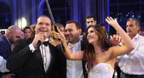 هاني العمري يشعل حفل زفاف ملكة جمال لبنان